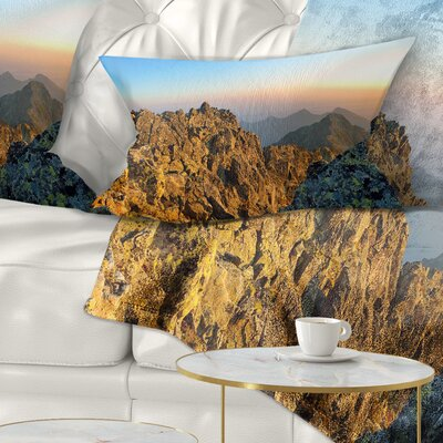 View from Baranie Rohy Peak Landscape Photo Pillow Size: 12 x 20, Product Type: Lumbar Pillow