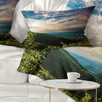 Vitosha Mountain over Sofia Bulgaria Landscape Printed Pillow Size: 12 x 20, Product Type: Lumbar Pillow