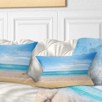 Wide Sky over Beach Seashore Photo Pillow Size: 12 x 20, Product Type: Lumbar Pillow