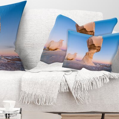 Wind Eroded Rock Formation Landscape Photo Pillow Size: 12 x 20, Product Type: Lumbar Pillow