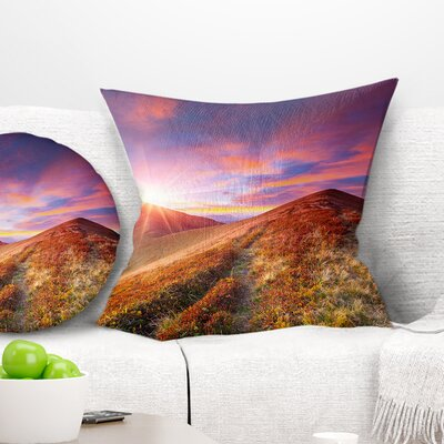 Grass and Clouds Landscape Photography Pillow Size: 16 x 16, Product Type: Throw Pillow