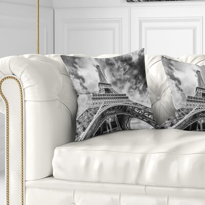 View of Paris Eiffel Tower Cityscape Pillow Size: 16 x 16, Product Type: Throw Pillow