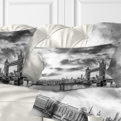 View of London Panorama Cityscape Pillow Size: 12 x 20, Product Type: Lumbar Pillow