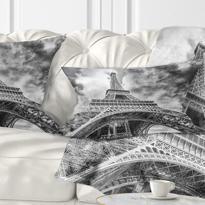 View of Paris Eiffel Tower Cityscape Pillow Size: 12 x 20, Product Type: Lumbar Pillow