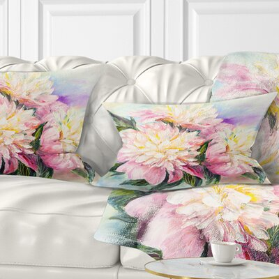 Blooming Peonies Floral Pillow Size: 12 x 20, Product Type: Lumbar Pillow