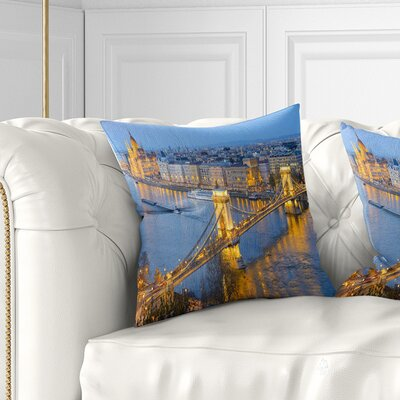 Chain Building and Parliament Pillow Size: 18 x 18, Product Type: Throw Pillow
