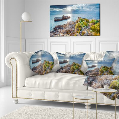 Piscina Di Venere Reserve Landscape Photo Throw Pillow Size: 16 x 16