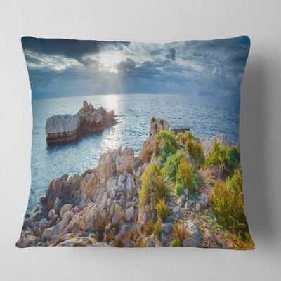 Piscina Di Venere Reserve Landscape Photo Pillow Size: 16 x 16, Product Type: Throw Pillow