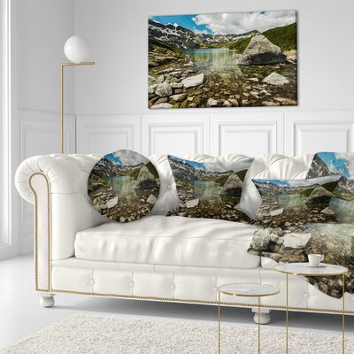 Pond in Five Lakes Valley Landscape Printed Throw Pillow Size: 16 x 16