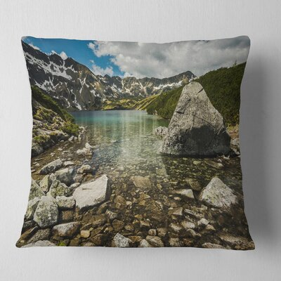 Pond in Five Lakes Valley Landscape Printed Pillow Size: 18 x 18, Product Type: Throw Pillow