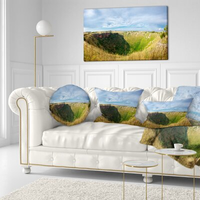Pulo Di Altamura Panorama Landscape Printed Throw Pillow Size: 16 x 16