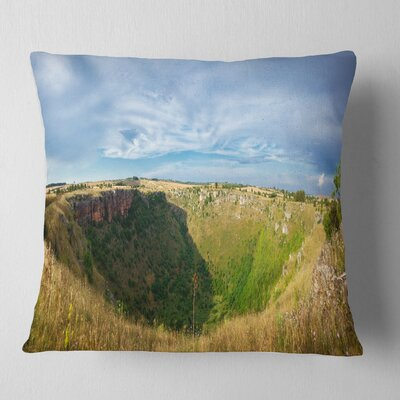 Pulo Di Altamura Panorama Landscape Printed Pillow Size: 16 x 16, Product Type: Throw Pillow