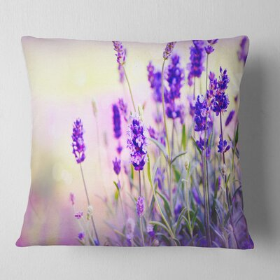 Field Floral Photography Pillow Size: 18 x 18, Product Type: Throw Pillow