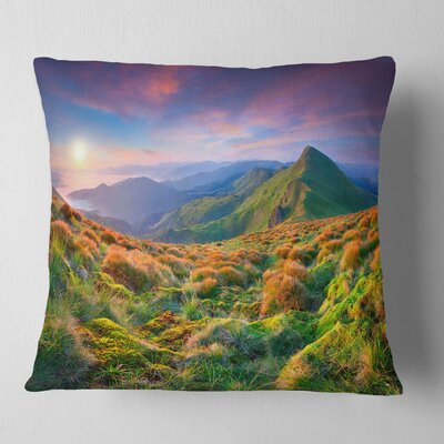 Sky and Mountains Landscape Photo Pillow Size: 26 x 26, Product Type: Euro Pillow