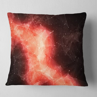 Nebula in Cosmos Contemporary Pillow Size: 26 x 26, Product Type: Euro Pillow