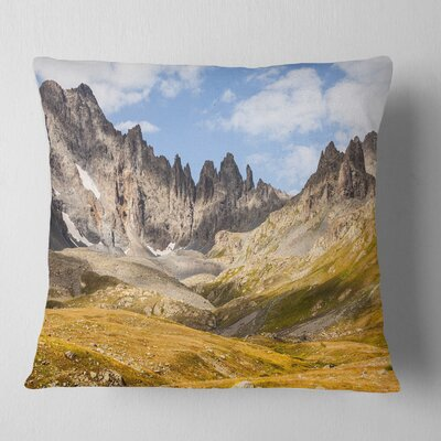 Hills and Valleys in Golden Morning Landscape Photography Pillow Size: 26 x 26, Product Type: Euro Pillow