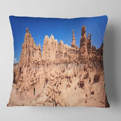 Hoodoo Rock Pinnacles in Goblin Valley Landscape Printed Pillow Size: 26 x 26, Product Type: Euro Pillow