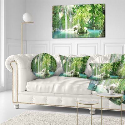 Kursunlu Waterfalls Antalya Landscape Photography Throw Pillow Size: 16 x 16