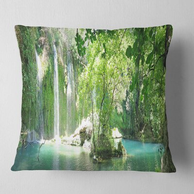 Kursunlu Waterfalls Antalya Landscape Photography Pillow Size: 26 x 26, Product Type: Euro Pillow