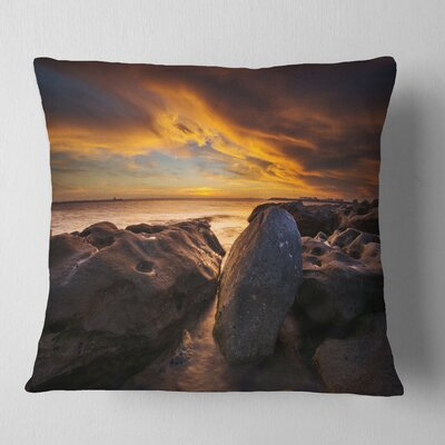 La Perhouse Beach Sydney Seascape Pillow Size: 26 x 26, Product Type: Euro Pillow