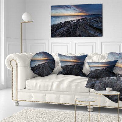 La Perouse Beach Sydney Seascape Throw Pillow Size: 16 x 16