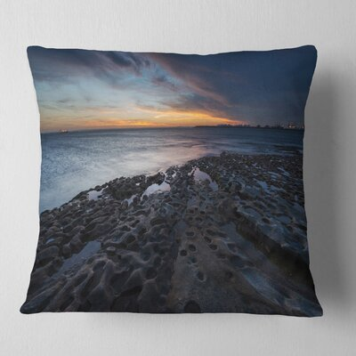 La Perouse Beach Sydney Seascape Pillow Size: 18 x 18, Product Type: Throw Pillow