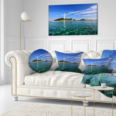 Lengkuas Island Indonesia Seascape Throw Pillow Size: 20 x 20