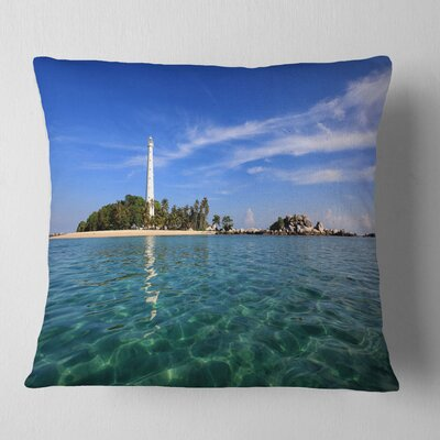 Lengkuas Island Indonesia Seascape Pillow Size: 18 x 18, Product Type: Throw Pillow