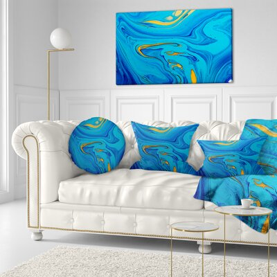 Light Abstract Acrylic Paint Mix Abstract Throw Pillow Size: 16 x 16