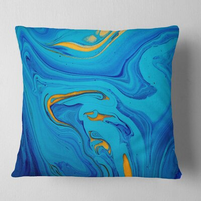 Light Abstract Acrylic Paint Mix Abstract Pillow Size: 16 x 16, Product Type: Throw Pillow