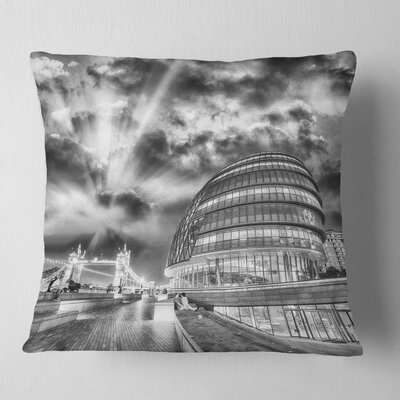 London Night Cityscape around Southwark Cityscape Pillow Size: 26 x 26, Product Type: Euro Pillow