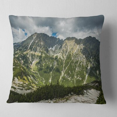Panoramic Vista over Mountains Landscape Printed Pillow Size: 16 x 16, Product Type: Throw Pillow