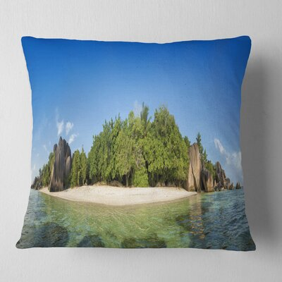 Paradise on Earth Seychelles Island Seashore Pillow Size: 18 x 18, Product Type: Throw Pillow