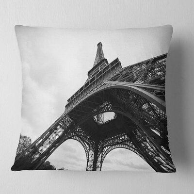 Paris Paris Eiffel Towerin Side View Cityscape Pillow Size: 26 x 26, Product Type: Euro Pillow