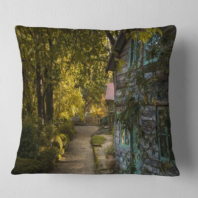 Pathway in the Garden Landscape Printed Pillow Size: 18 x 18, Product Type: Throw Pillow
