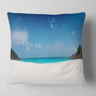 Petite Anse Beach La Digue Island Seascape Pillow Size: 18 x 18, Product Type: Throw Pillow