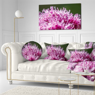 Little Flowers Close up View Floral Throw Pillow Size: 20 x 20