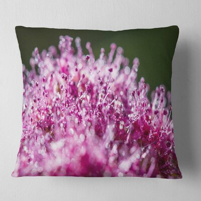 Little Flowers Close up View Floral Pillow Size: 18 x 18, Product Type: Throw Pillow