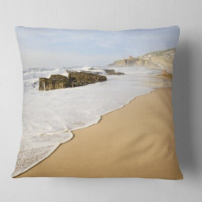 Magoito Beach Portugal Seascape Pillow Size: 26 x 26, Product Type: Euro Pillow