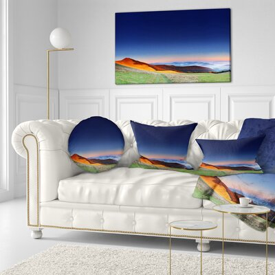 Majestic and Sunrise Landscape Photo Throw Pillow Size: 20 x 20