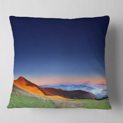 Majestic and Sunrise Landscape Photo Pillow Size: 26 x 26, Product Type: Euro Pillow