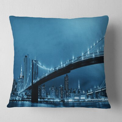 Manhattan Downtown Urban View Cityscape Pillow Size: 26 x 26, Product Type: Euro Pillow