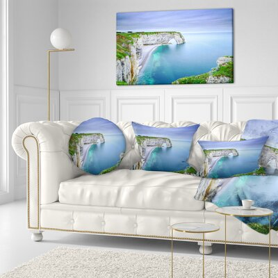 Manneporte Natural Rock Arch Seashore Photo Throw Pillow Size: 20 x 20