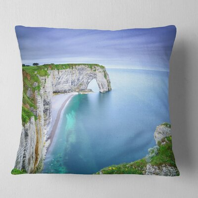 Manneporte Natural Rock Arch Seashore Photo Pillow Size: 18 x 18, Product Type: Throw Pillow