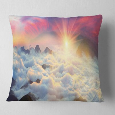 Misty Beautiful Chornogory Ridge Landscape Photography Pillow Size: 18 x 18, Product Type: Throw Pillow