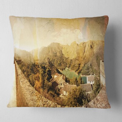 Mountain and Lofty Lake Landscape Photo Pillow Size: 26 x 26, Product Type: Euro Pillow