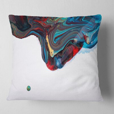 Abstract Acrylic Paint Mix Abstract Pillow Size: 16 x 16, Product Type: Throw Pillow