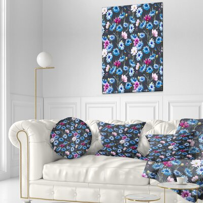 Corn Flowers Floral Pillow Size: 12 x 20, Product Type: Lumbar Pillow