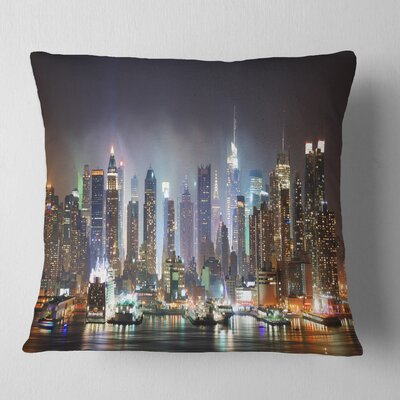 New York Times Square in Cityscape Pillow Size: 16 x 16, Product Type: Throw Pillow