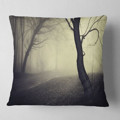 Old Looking Fall Forest Shoot Landscape Photography Pillow Size: 18 x 18, Product Type: Throw Pillow
